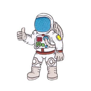 computador Exquisite bordados Cosmonaut Astronaut Spaceman com equipamentos bordado ferro applique no transporte de privação