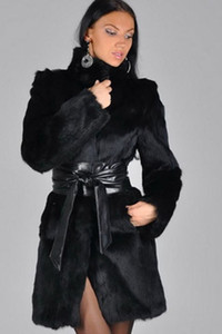 European and American women's autumn winter fur fake mink coat fox fur coat in long imitation fur coat fz5037