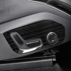 Кнопка регулировки автокресла рамка украшения крышка отделка для Volvo XC60 2018 нержавеющая сталь 2 шт. модифицированные наклейки