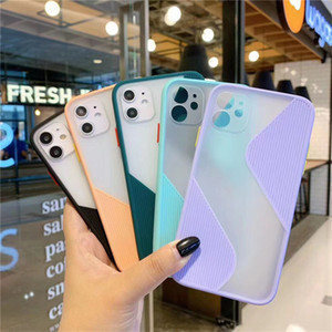 Shockproof Phone Case Back Cover For iPhone 11 Pro Max XS Max X XR 8 7 6 6S Plus SE2020 Splice Translucent Case