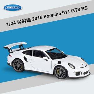 Welly 1:24 Scale Simulator Модель автомобиля сплава Porsch 911 (997) GT3 RS спортивный автомобиль Diecast металла игрушки гоночный автомобиль для малыша игрушки Подарочные T191129