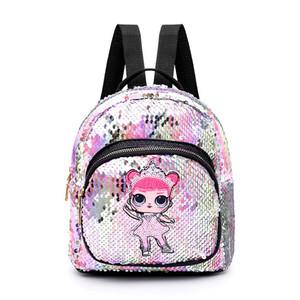 Lantejoulas Sacos para armazenamento de livros das crianças das crianças meninas Mochila Escolar Moda Viagem Mini Shoulder Backpack Miúdos da escola Bolsas