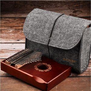 Mbira Kalimba pulgar Piano 17 clave Kalimba sólido caoba pulgar Piano Mbira Natural Mini teclado instrumento