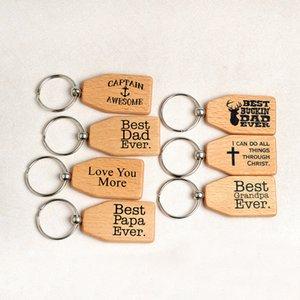 나무로되는 Keychain 제일 아빠 최고 아빠 제일 할아버지는 이제까지 나무를 사랑한다 Keychain Keyrings 반지 홀더 Tag 가족 구성원 보석
