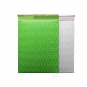 녹색과 흰색 거품 택배 폴리 우편물 발송 우편 봉투 거품 우편물 가방 50 개 무료 배송 DHL