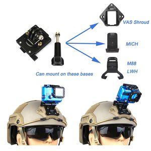 야외 스포츠 Airsoft 장비 헬멧 액세서리 전술적 인 빠른 헬멧 고정 Vas 슈라우드베이스 스포츠 액션 카메라 P01-144 용