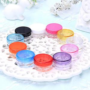 Clear Plastic Jar Hot Sales 10 Pcs Plastic Storage Box Nail Art Cosmetic Bead Gems Case Bottle Pot Makeup Box Travel Bottle