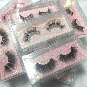 3D naturel doux cils vison extensions de cils bande complète cils 3d vison cils cils outils de maquillage pour les yeux faux cils 21 Styles