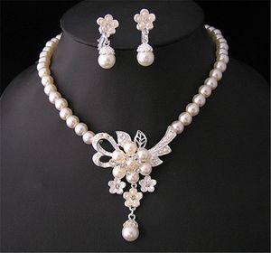 Bling da sposa di monili in argento placcato collana set di gioielli orecchini di diamanti da sposa per la sposa damigelle donne Accessori DHL