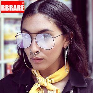 RBRARE Sunglasses Mulheres 2020 Womens Sunglasses Marca Designer Oversized Women / Men Retro Gafas