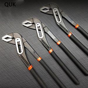 """QUK Pince pompe à eau à démontage rapide Plomberie Pinces 8 Clé universelle « 10 » 12"""" Grip Clé à tuyau Plumber Outils mâchoire droite"""
