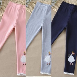 Girls leggings little girl big girl all-match tight Cotton trousers tight pants cotton pants