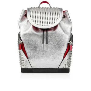 2020 del progettista borse picco catena di pelle di agnello con cristallo gira packbag donne di lusso Nero Bianco Blu Rosso Oro Grande scuola di cuoio genuino degli uomini zaino