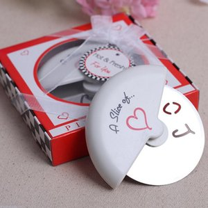Pizza Knife A Slice of Love Stainless Steel Pizza Cutter Shop Wedding Gifts Favors Baking Cutter Kitchen Accessories