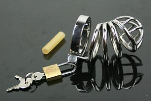 Dispositivo de anillo de sexo de acero inoxidable Stealth Chastity Cock Cock Cause con súper juguete 316 Male Lock Llbki