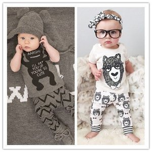 2019 Summer Style Infant Clothes Baby Clothing Sets Boy Cotton Little Monsters Short Sleeve 2pcs Suit Baby Boy Kids Clothes