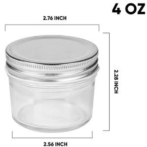 10PKGS 4oz Glass Jars With Lids(Silver),Mason Jars,glass jars with lids,Jam,Baby Foods,Wedding Favor,DIY Magnetic Spice Jars,Mini S