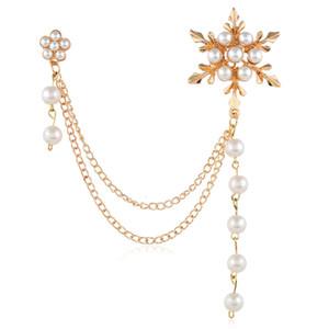 Venda quente de Neve Flor Pérola Broche Bonito Espinho Broche de Moda de Nova Mulheres Acessórios de Vestuário