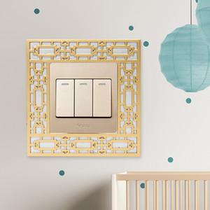 L'oro interruttore della parete della struttura decorativo interruttore di alimentazione della cornice di copertura insieme dello zoccolo Ornamento moderno per