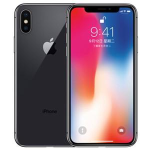Original Refurbished Apple iPhone X 5,8 Zoll A11 Bionic iOS Hexa-Core 3 GB RAM 64/256 GB ROM 12MP Kamera entriegelte intelligentes Telefon DHL5pcs
