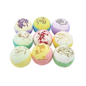 New Moisturizing Dry Flower Bubble Bath Bomb Ball Essential Oil Bath SPA Stress Relief Exfoliating Bath Salt Bathing Accessories R0539