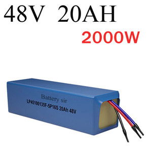 48V-Lithium-Batterie 48V 2000W Superenergie elektrische Fahrradbatterie 48v 20Ah Lithium-Ionen-Akku Freier Zoll