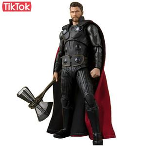 Filme Avengers Endgame Thor Avengers Infinito Guerra Dos Desenhos Animados Toy Action Figure Model Boneca de Presente