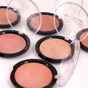 Paleta de rubor Maquillaje facial Mineral natural Paleta de colorete al horno Brillo Bronce Cosmético 6 colores Miss Rose