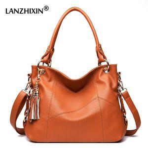 Lanzhixin Messenger Women Leather Handbags Designer Crossbody Tote Shoulder Bolsas Feminina Borse a manico lungo Y190620