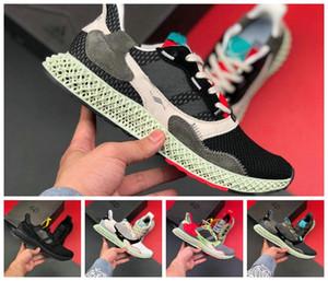 ADIDAS 2019 zx4000 Futurecraft 4D ZX 4000 alphaedge y3 4D Futurecraft erkek koşu ayakkabı Erkek Kadın marka sneakers siyah beyaz Gri 36-45