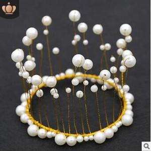 Decorazione della torta della Corona Evidenziare mano Alghe Pearl sposa fascia Multi Hair Care Styling Tools Accessori per capelli HA722