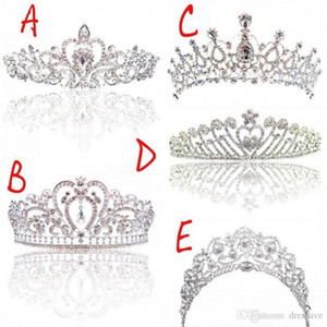 Luxo nupcial Crown baratos mas de alta qualidade faísca frisados Cristais Coroas de casamento Roayal Cristal Veil Headband Acessórios para Cabelo Partido Tiaras