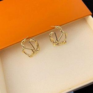 Europa America I monili della signora Women ottone inciso V Iniziali 18 carati collana orecchini oro Set Da Giardino Louise Pendant