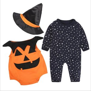 Lovely Baby Halloween Set Newborn Infant Toddler Halloween Clothes with Hat and Romper Novelty kids Outfits 3pcs Sets