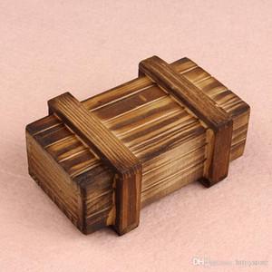Al por mayor-Novela Diseños Inteligencia Rompecabezas Mágico Caja de madera Secreto Compartimiento de regalo Cerebro Nuevo