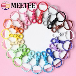 Meetee 43*30mm Colorful Metal Buckle for Dog Hook Keychain O D Ring DIY Jewelry Handmade Harware Crafts Accessories AP598