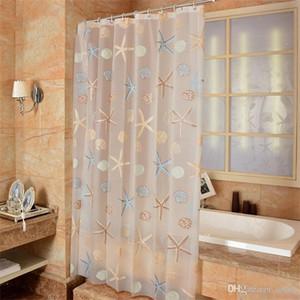 Seestern Badezimmer Sets Duschvorhang Shell Mildew Proof-Fenster Gardinen TOILET Wasserdicht Schutz Tuch Durchlässiger heißen Verkaufs-14 8yj5b1