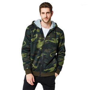 O O Neck Mens Hooded Sweights عرضية Male Designer Clothing Camouflage Cardigcan Hoods Winter Long Sleeve