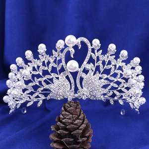Peacock Beautiful Crown Bride Gold Ladies Jewelry Diamond Crowns Bride Wedding Accessories Crown European Style Retro Palace Crown