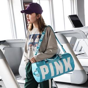 Розовый Письмо сумки Женские сумки на ремне Любовь Розовый водонепроницаемый хозяйственная сумка сумка Big Kids BagsLarge Вместимость путешествия Tote