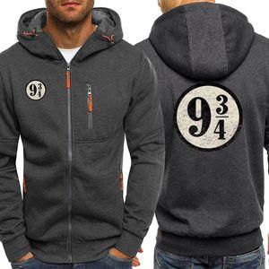 Tren a 934 chándal tren de época andén nueve y tres cuartos de los hombres sudaderas con capucha para hombre Casual Streetwear
