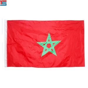 디지털 인쇄 모로코 플래그 90 x 150 cm 폴리 에스터 국가 국기 깃발과 2 개의 그로멧