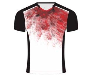 Venda direta da fábrica da roupa nova do tênis T-shirt do esporte de manga curta sublimação quente compra grupo personalizado vestuário tênis feminino