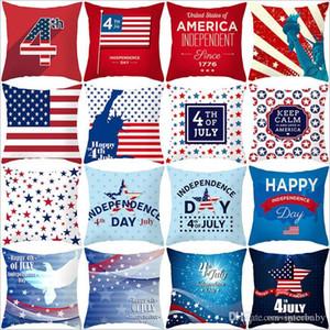 04 de julho fronha Independence Day Pillow Covers Bandeira de América do sofá Capa de Almofada listrada Estrela impresso fronha Home Decor BYP5352