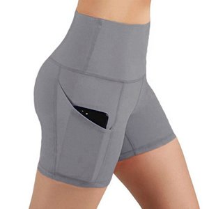 clothinght1 explosion models waist yoga pants pocket oblique running training sport tight-fitting gym shorts