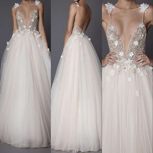 Sexy Long Evening Dresses For Beading Crystals Tulle 2019 New Women Formal Party Gowns Vestido De Festa