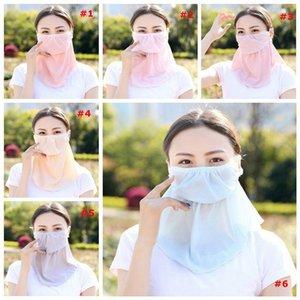 Anti UV Neck Protection Summer Women Shawl Sunshade mask Attachment Headwear Travel Mountaineering Cycling dustproof Mask