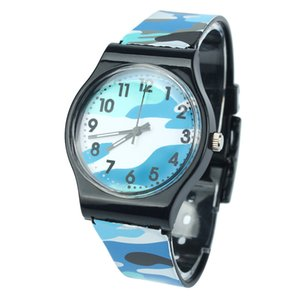 Camouflage-Kind-Uhr-Quarz-Armbanduhr für Mädchen-Jungen kluge Kinder-Sportuhren für Jugendliche wasserdichte Geschenke für Kinder Kind