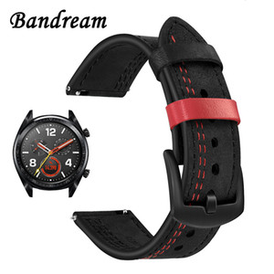 22mm Unique Genuine Leather Watchband for Huawei Watch GT Watch2 Pro Classic Honor Magic Quick Release Band Wrist Strap Bracelet Y191105