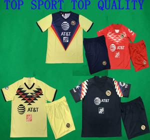 19 20 Amerika Futbol Setleri LIGA MX Club America Deplasman Üçüncü Futbol Forma Şort Kaleci Futbol Erkekler Futbol Kıyafetleri ayarlar